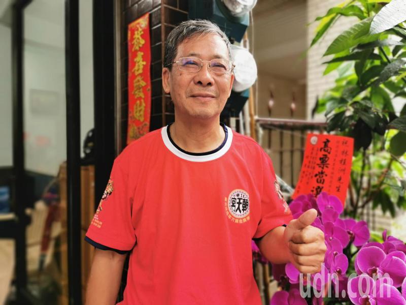 林桂洲感謝里民和網路小商人的支持。記者卜敏正/攝影