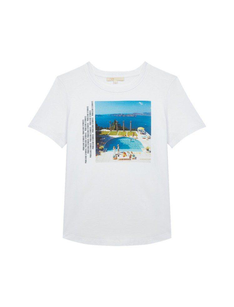 maje池畔印花襯衫,9,050元。圖/maje提供