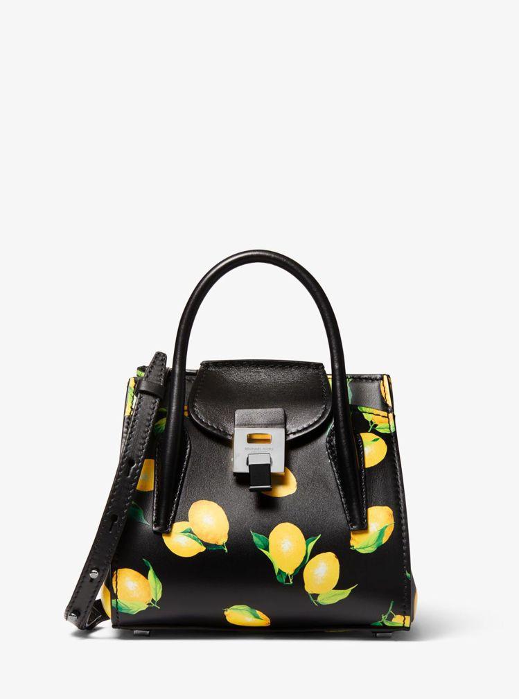 MICHAEL KORS Bancroft檸檬印花迷你提包,31,700元。圖/...