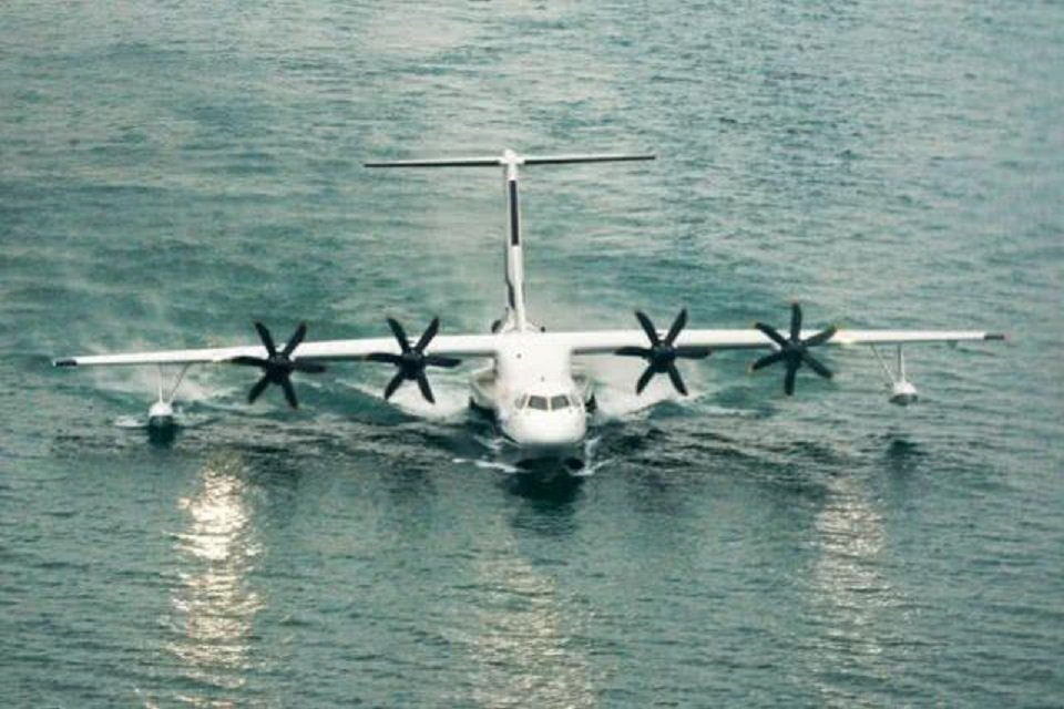 陸製兩棲飛機「鯤龍」AG600 。圖/環球時報