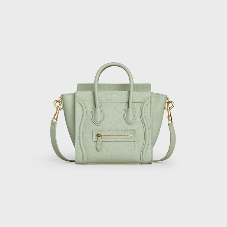 Luggage薄荷綠小牛皮肩背提包,81,000元。圖/CELINE BY HE...