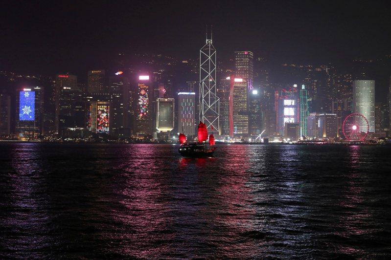 香港天際線。(路透)