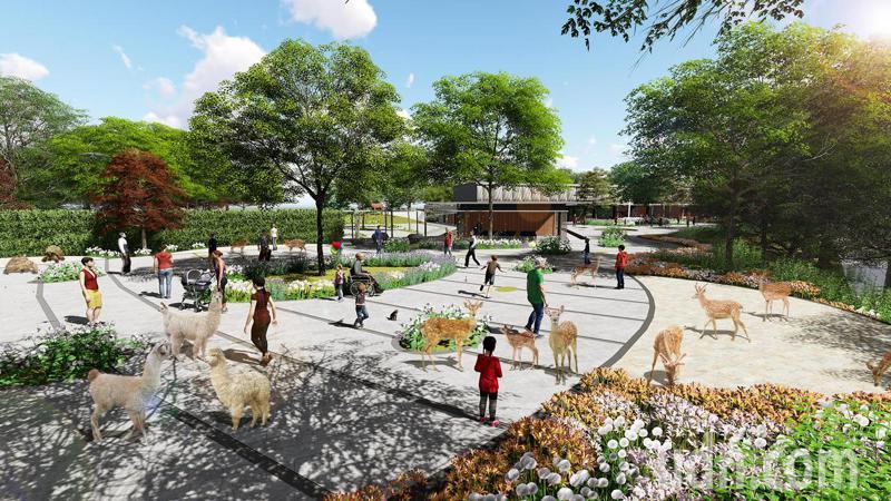 內門(動物園)觀光休閒園區模擬圖之一。圖/市府觀光局提供