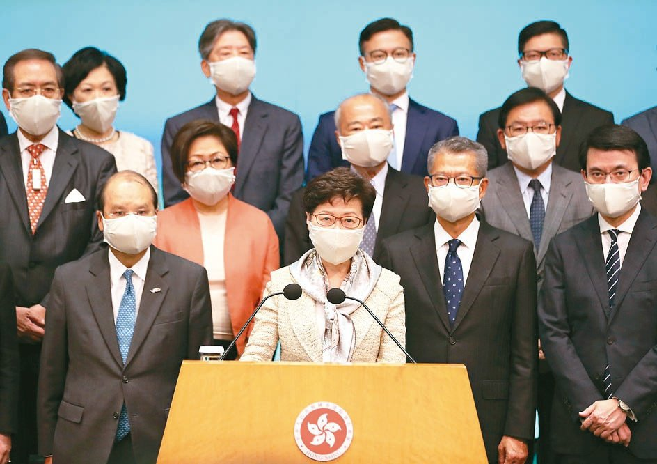 香港行政長官林鄭月娥22日會見傳媒時強調,建立健全香港特區維護國家安全的法律制度...
