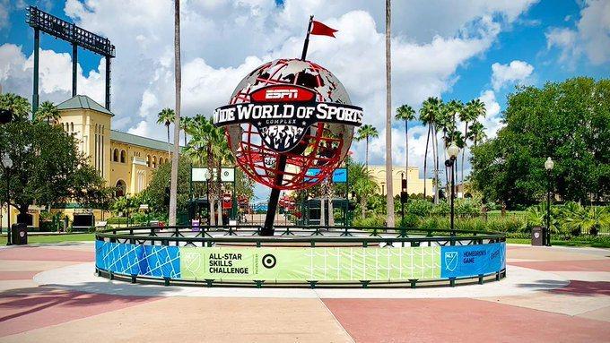 位於佛羅里達的ESPN綜合運動園區,有望成為NBA復賽場地。 擷圖自推特