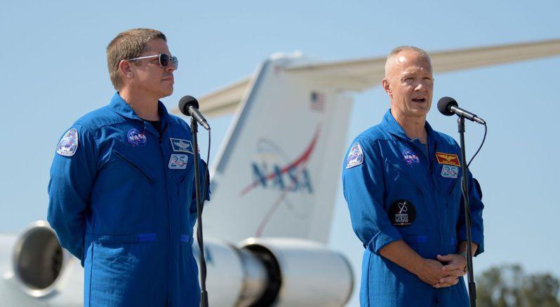 NASA下周發射SpaceX太空船,兩名太空人不但資深還是同窗好友。 法新社