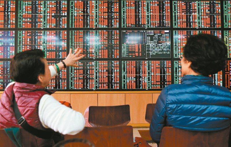 台股櫃買指數周線連拉九紅,法人表示,本周可續留意中小型股表現,另也要關注MSCI調整將於周五盤後生效。 圖/聯合報係資料照片