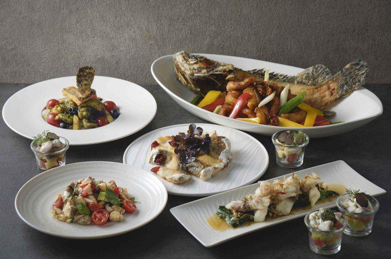 高雄國賓飯店i River自助餐廳5月30日晚餐時段推出「龍虎斑吃到飽」活動,呈見15種菜色吃法。圖/高雄國賓飯店提供