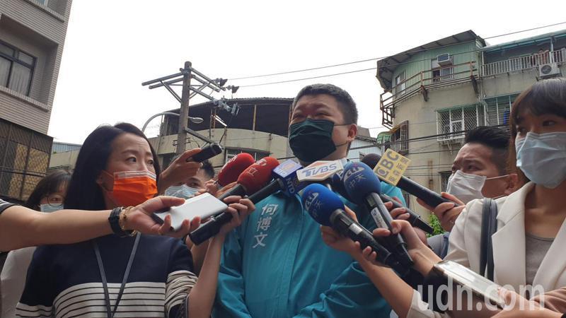 新北市黨主席參選人何博文表示,未來會努力新北黨務選務發展。記者胡瑞玲/攝影