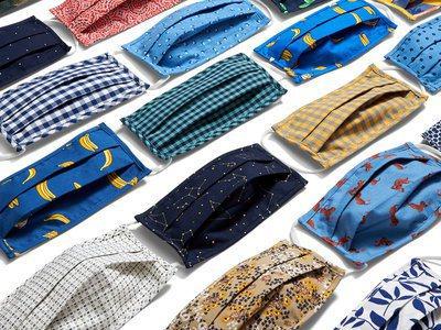 美國服飾品牌最近紛紛開賣非醫療用口罩,加深品牌識別度並刺激銷售。 圖/取自Old...