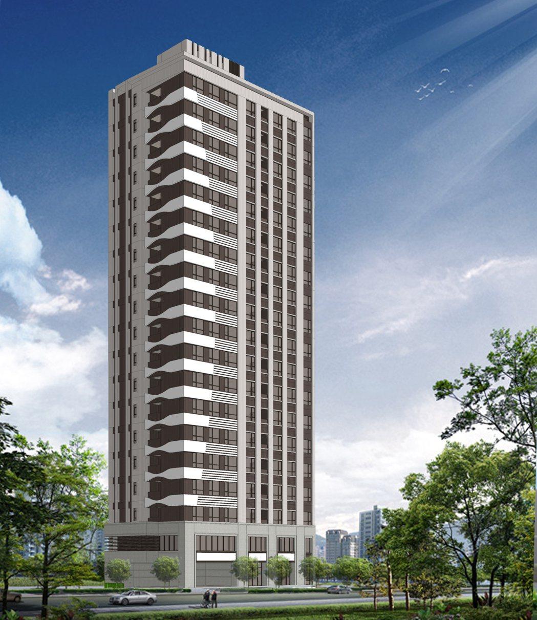 中和區廟美段簡易都更案重建後將打造成1棟19樓高的住商混合建物。圖/新北市都更處...