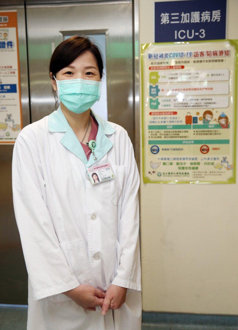 北醫內科加護病房護理長杜孟純 。記者曾吉松/攝影