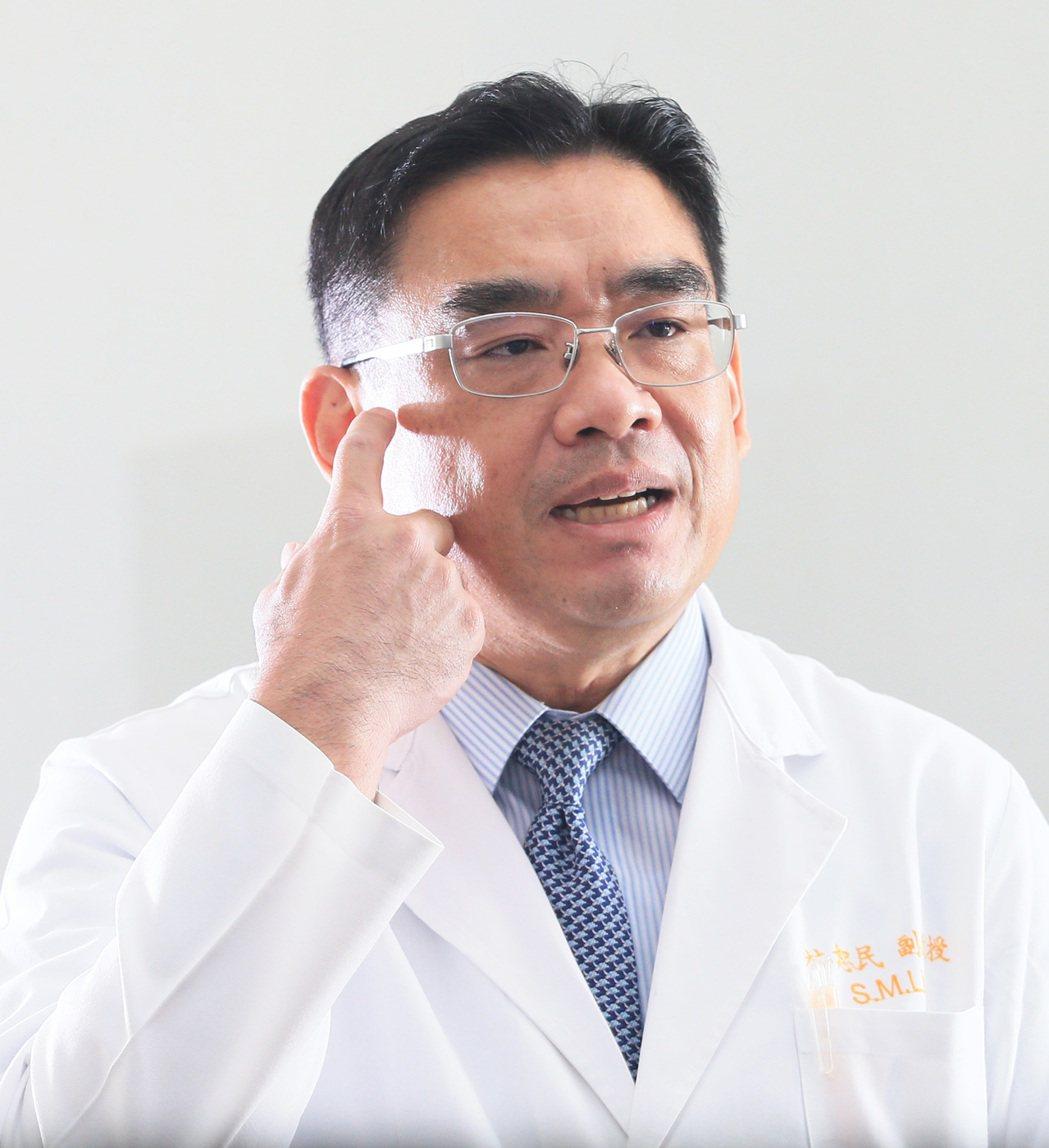 專訪林口長庚醫院胸腔科主任林恕民。記者潘俊宏/攝影