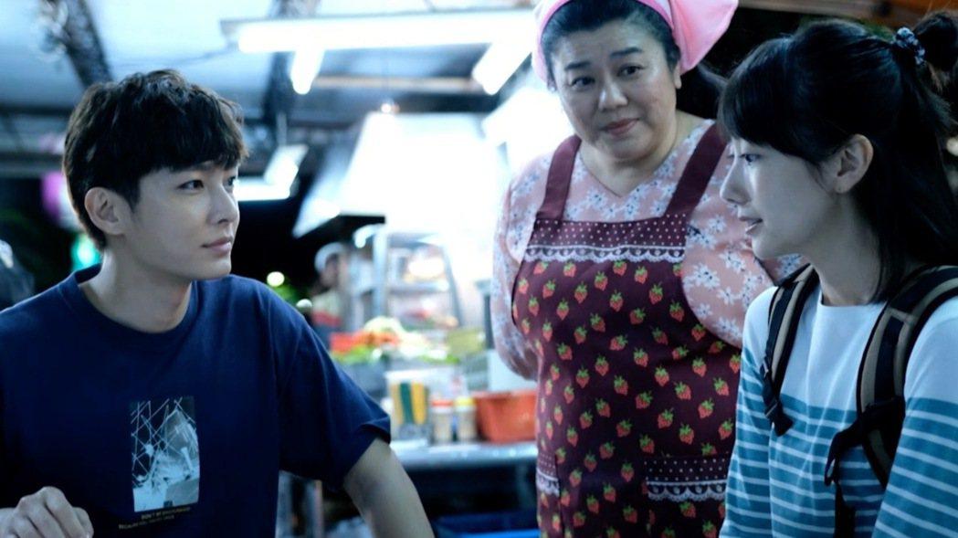 炎亞綸(左起)與林美秀、日本女星波瑠合作演出「路~台灣EXPRESS~」。圖/公...