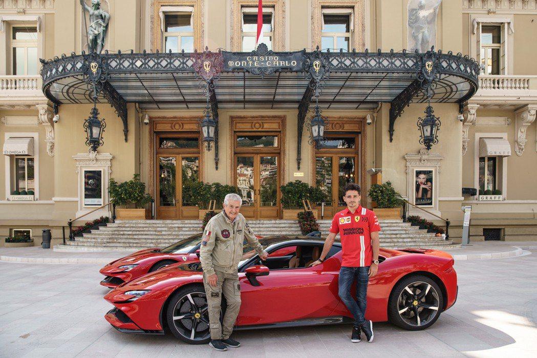 Claude Lelouch導演(左)這次找來了法拉利合作。 摘自Ferrari