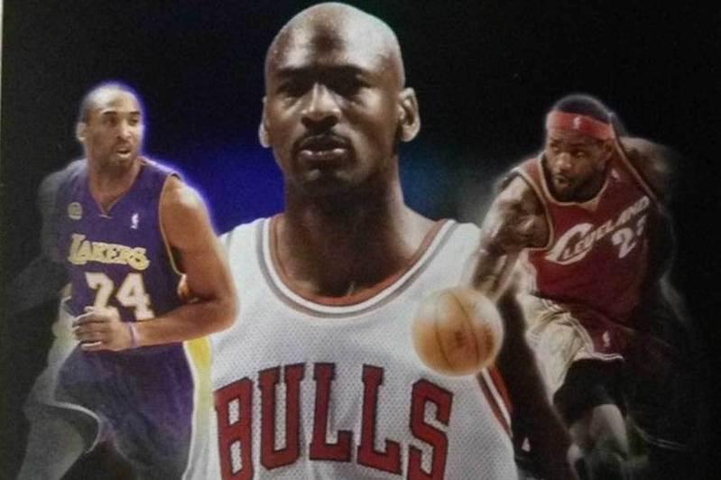 NBA三大統治者中,喬丹(中)、布萊恩(左)與隊友相處都展現硬漢風格,詹姆斯(右)則是更樂於把大家都當朋友。 2008-09 Upper Deck 球員卡盒封面
