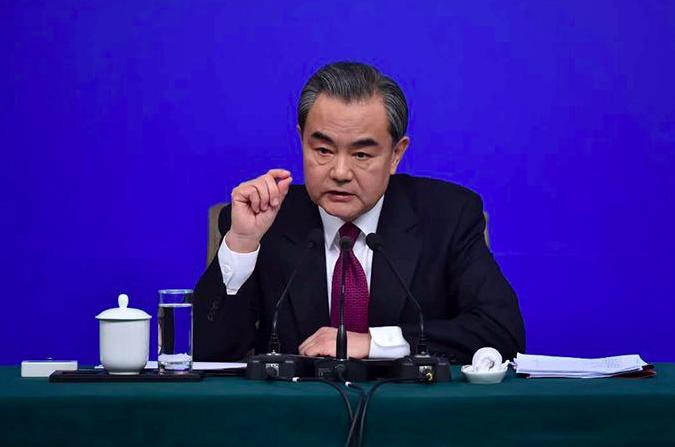 中共外長王毅指出,香港事務是中國內政,不容任何外來干涉。圖/取自人民網