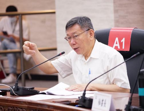 台北市長柯文哲在臉書表示,中共若還要強行另訂國安法,恐怕只會像「北風與太陽」故事中的北風,風愈吹,民心愈冷,逃愈遠。圖/北市府媒體事務組提供