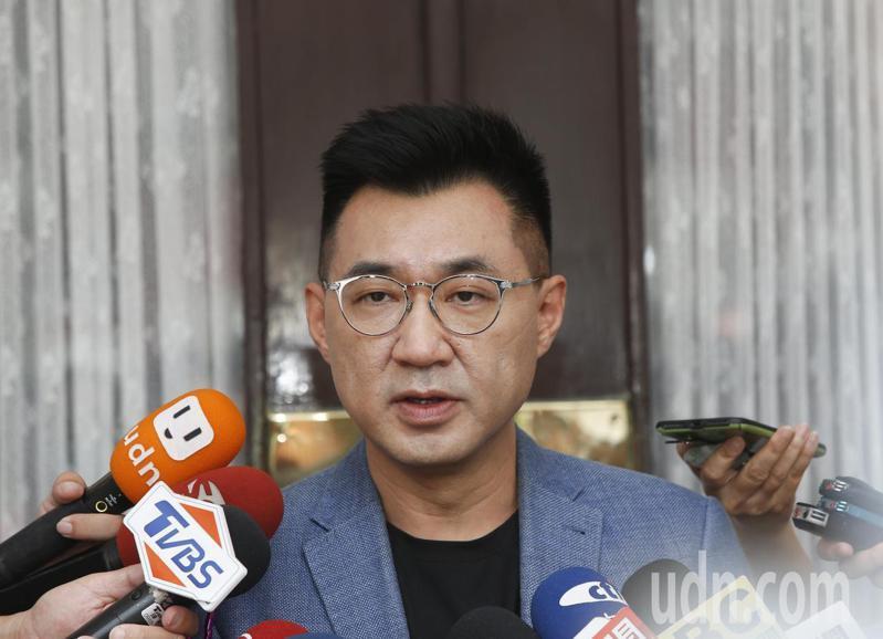 國民黨主席江啟臣。記者鄭超文/攝影