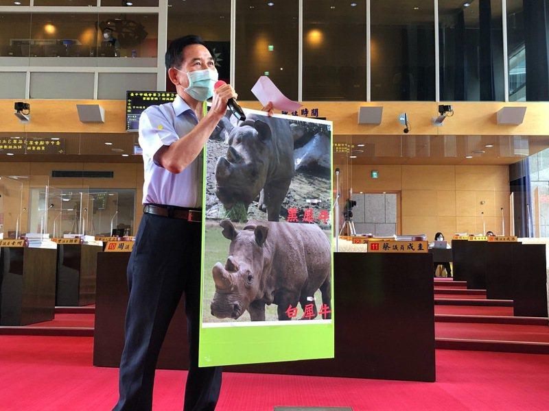 台中市議員吳敏濟呼籲市府設置動物園,讓市民紓壓休閒,還具教育研究功能。記者陳秋雲/攝影