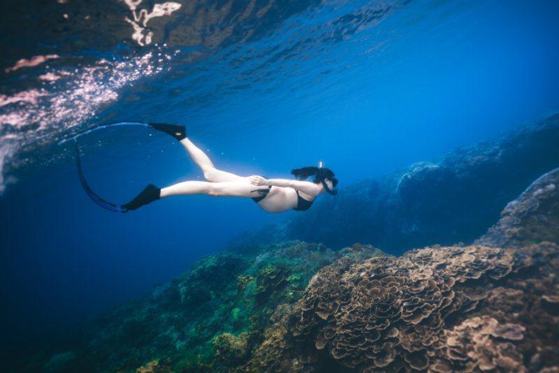 趙孟姿拍攝水下孕婦寫真。圖/凱渥提供