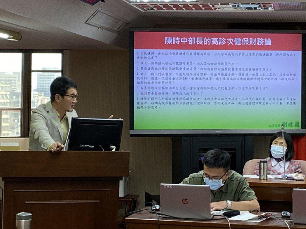 立委劉建國表示,全民健保開辦至今,雲林嘉義南投的醫療資源不若都市,有些老人家難得...