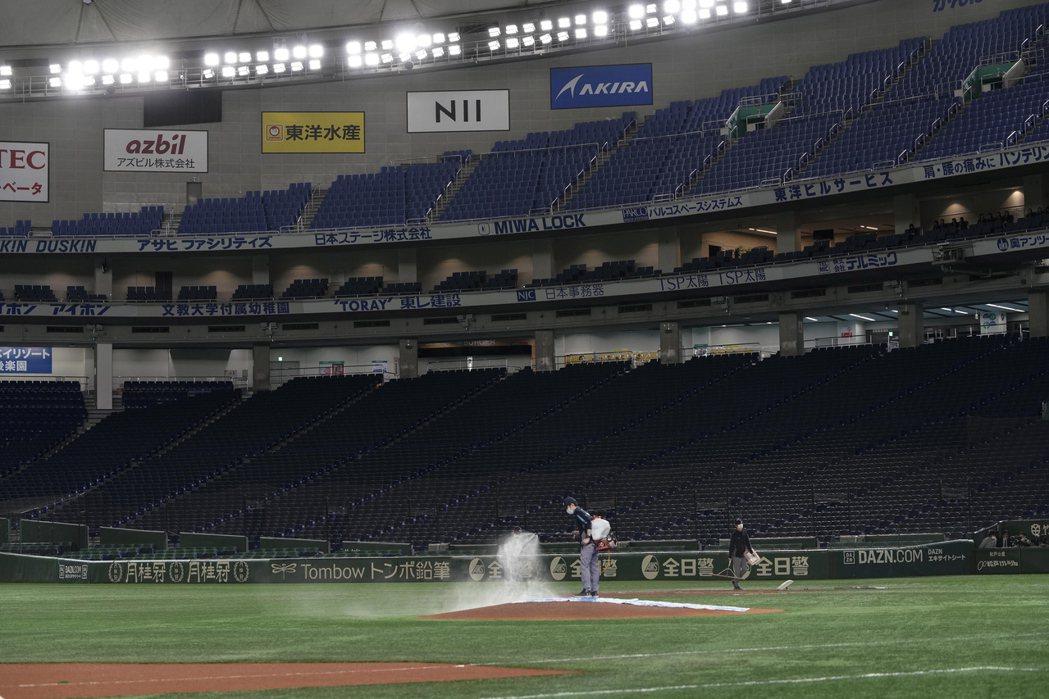 日職終於在25日敲定新球季將於6月19日開打,圖為東京巨蛋。歐新社