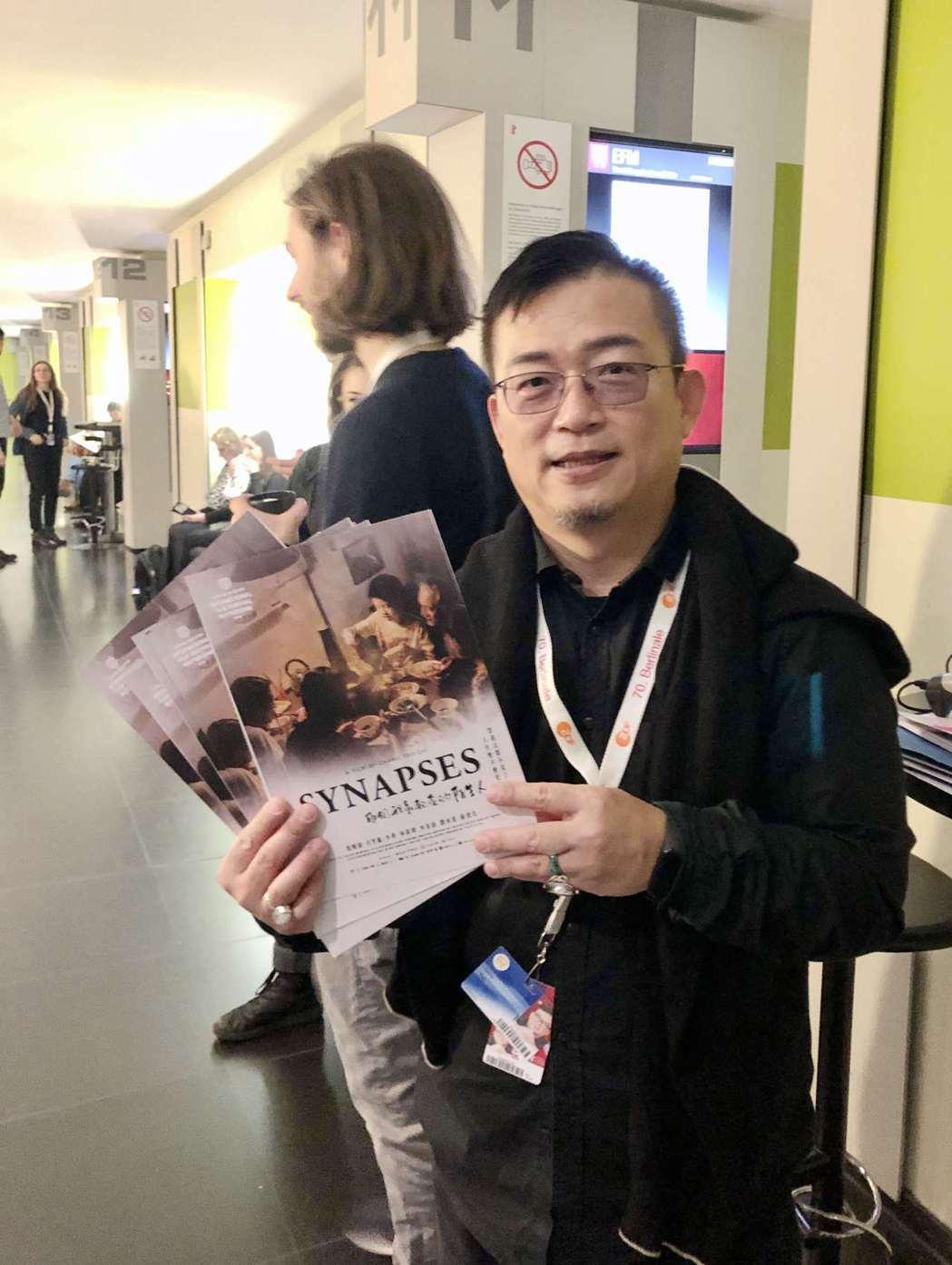 姚經玉寄望華語電影「歐洲三大影展」攻城略地,圖為在柏林影展EFM市場大推國片。圖...