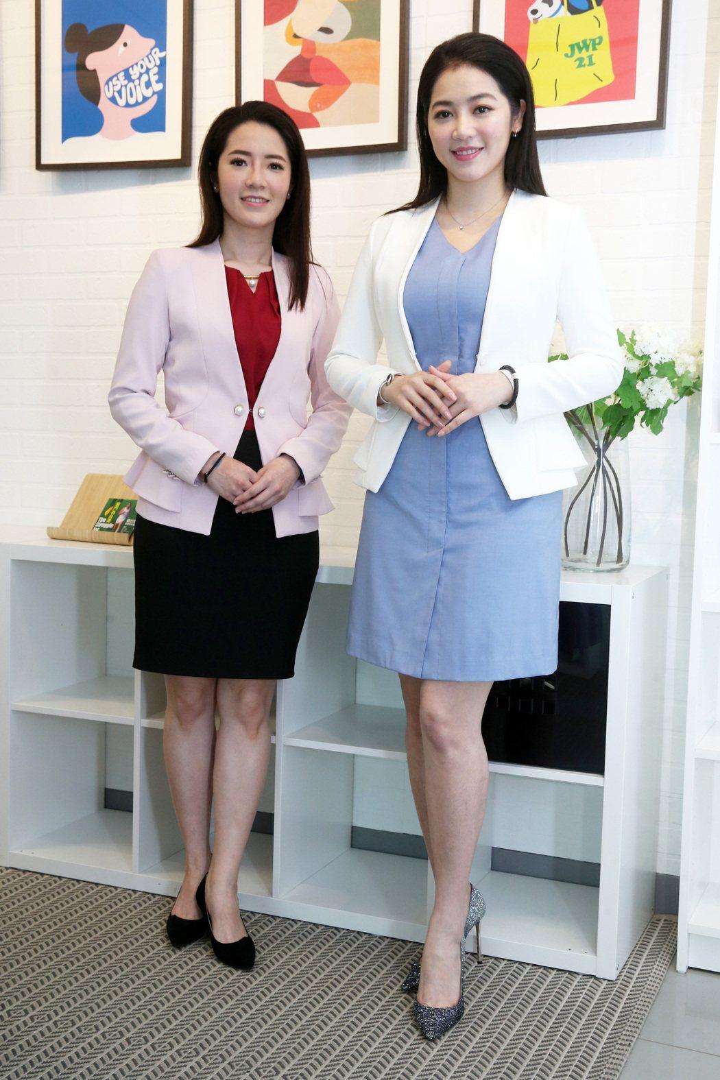 民視主播劉方慈(右)和李昱禎被認為有姊妹臉。記者胡經周/攝影