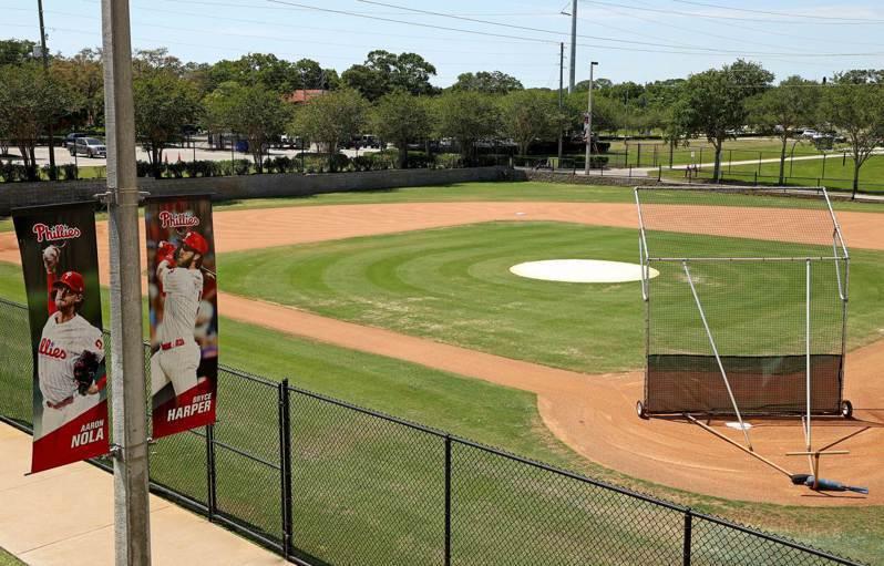 MLB春訓基地陸續開放。 法新社