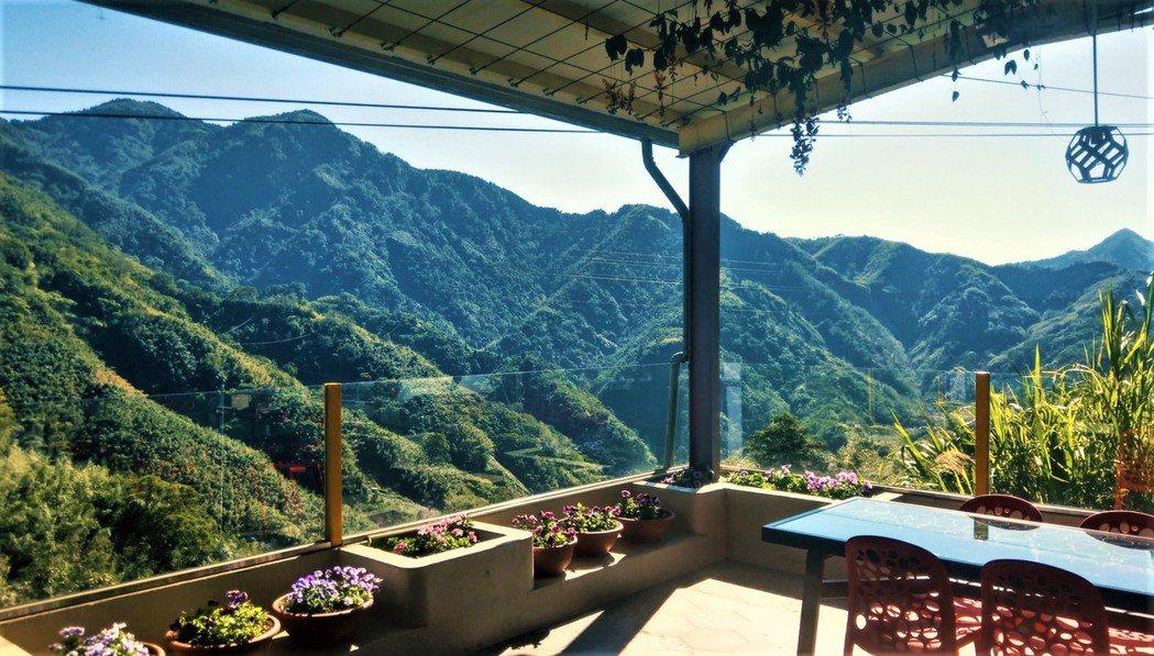 青葉山莊觀景台。
