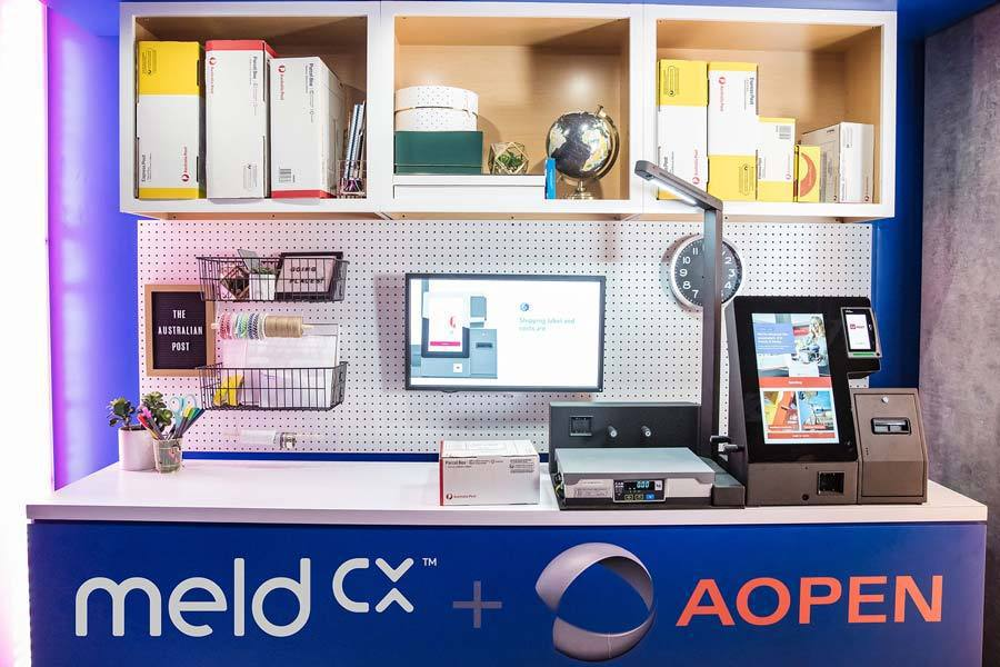meldCX 解決方案能簡化自助郵政服務,並提供零售分析。英特爾/提供