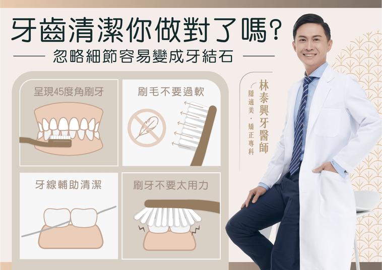 牙齒清潔你做對了嗎?圖/林泰興醫師