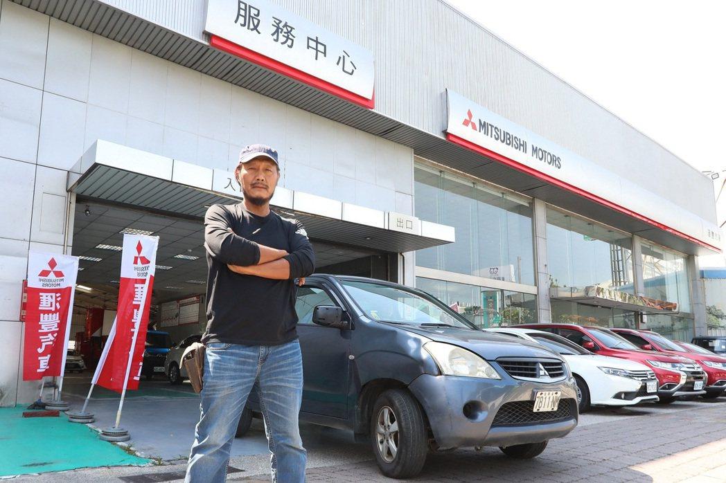 車主李在金14年寫下Zinger最高行駛紀錄。 圖/中華三菱提供