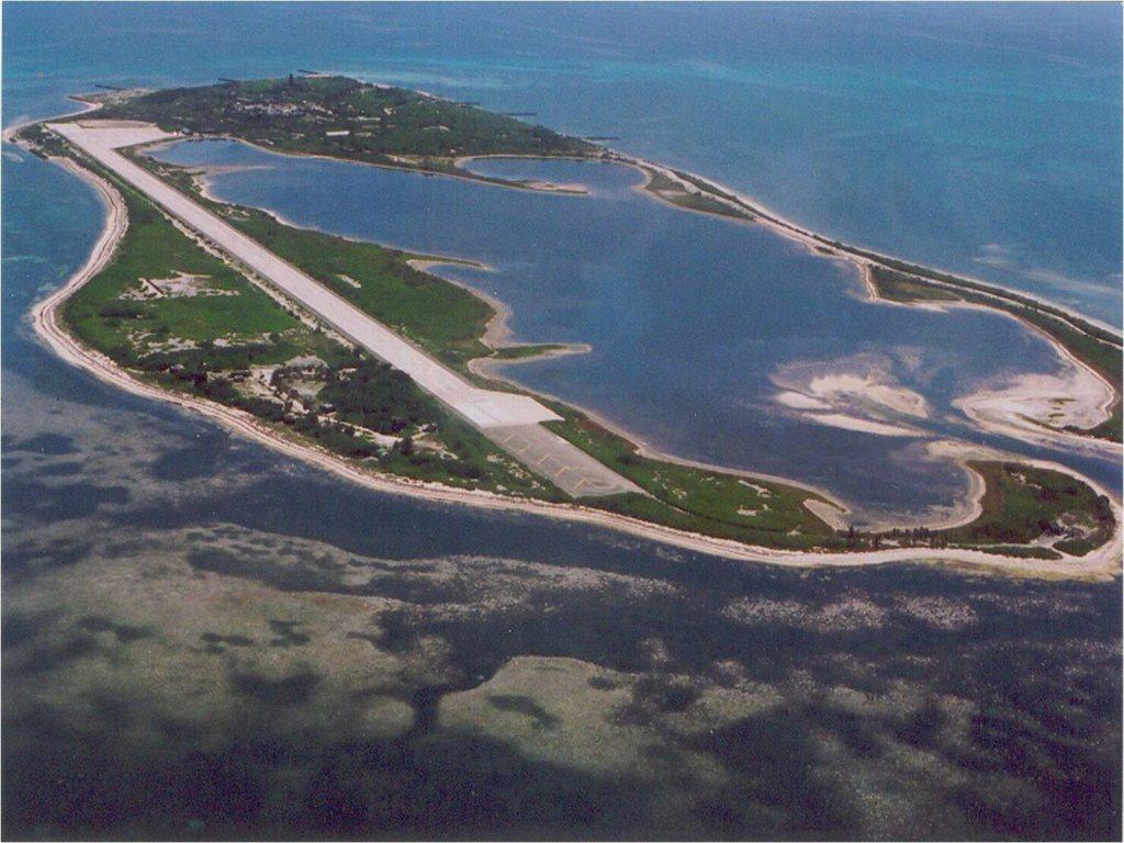東沙群島鳥瞰圖。 圖/海巡署提供
