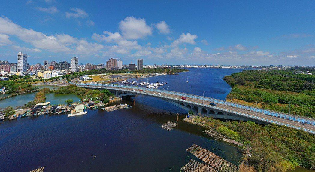 12.7公頃的亞果安平港遊艇城港區。 圖片提供/興富發建設