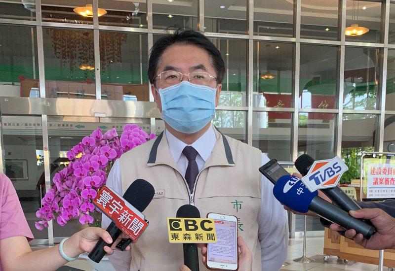 台南市長黃偉哲今早表示,衛福部長陳時中預計本周六來台南,周日離開。記者鄭維真/攝影