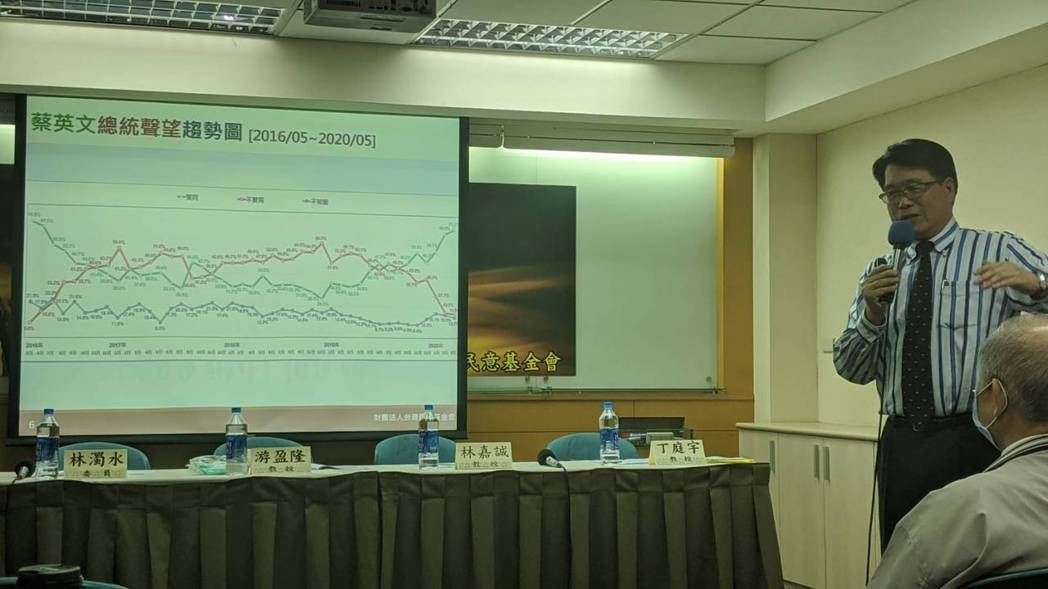 台灣民意基金會今日發表「蔡英文總統的下一個四年」最新民調。歷次民調顯示,蔡英文總...