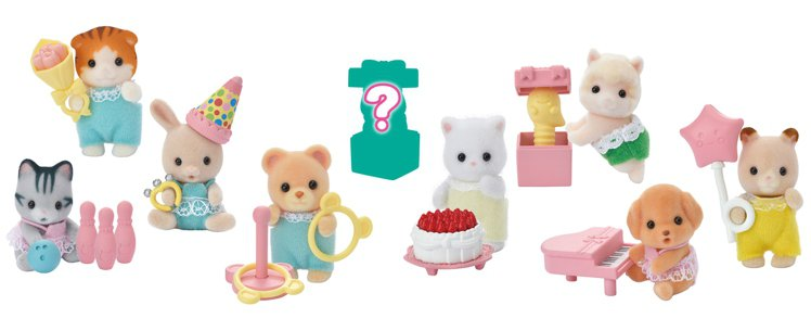 7-ELEVEN將於6月3日推出「森林家族嬰兒派對系列」,每袋隨機一款森林家族嬰...