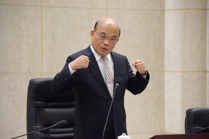 行政院長蘇貞昌明天將赴立法院報告施政方針並備質詢。圖/行政院提供