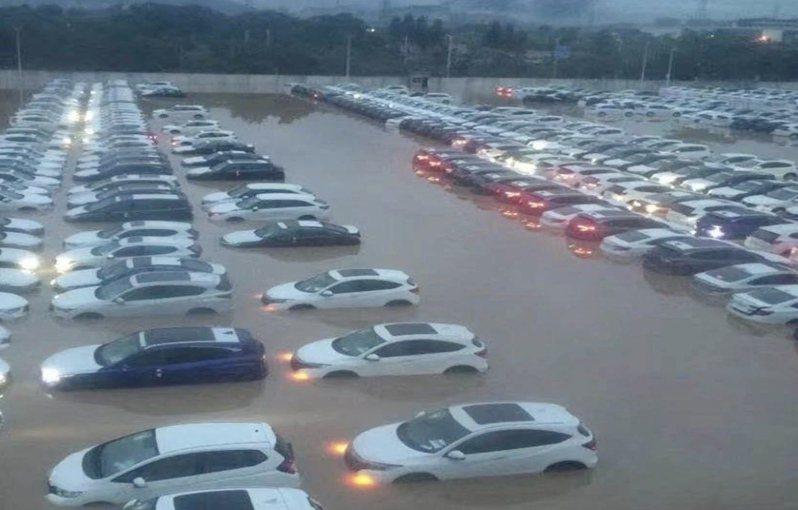 廣汽本田稱,所有泡水車都不會流入市場。(截圖自《澎湃新聞》視頻)