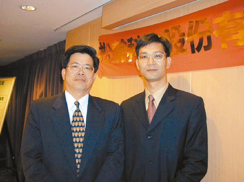 松翰董事長陳賢哲(左)。(本報系資料庫)