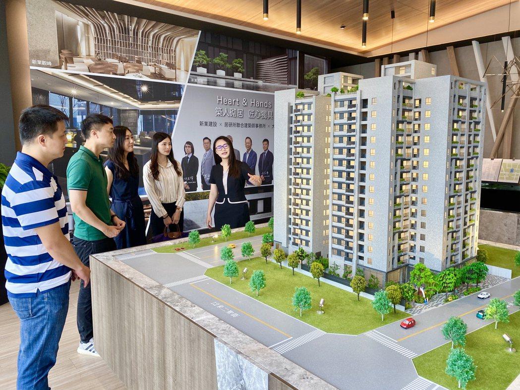 三井百億商城投資利多發酵,新業建設東區首案「新業自由居」銷售迅速突破七成,成為指...