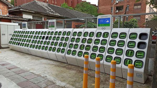 超級電池交換站將在大型都會區出現。Gogoro/提供