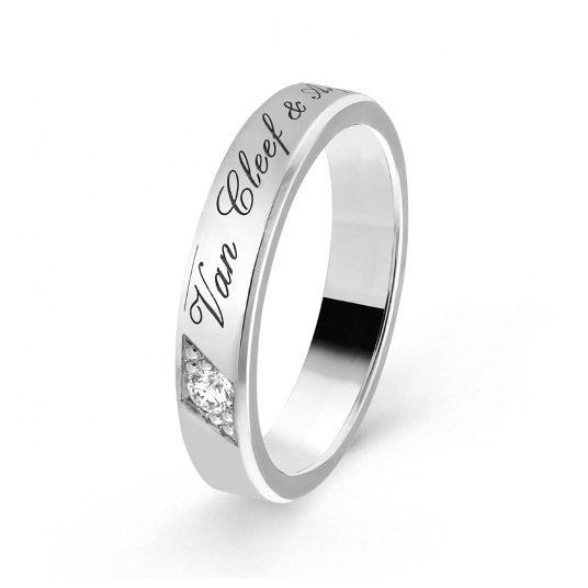 Toujours Signature Etoiles結婚戒指 (單鑽)。 圖/T...