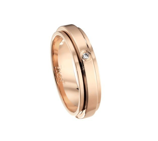 Possession系列鑲鑽婚戒。(圖片取自Piaget官網)
