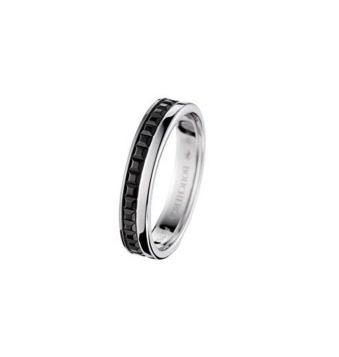 Quatre系列珠寶,黑色PVD雙圈款式。 圖/Tatler Taiwan提供
