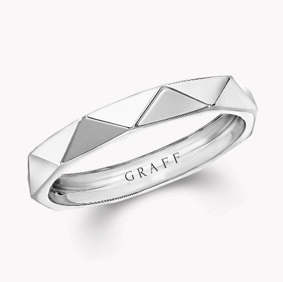 Laurence Graff Signature白金戒指。(圖片取自Graff官...