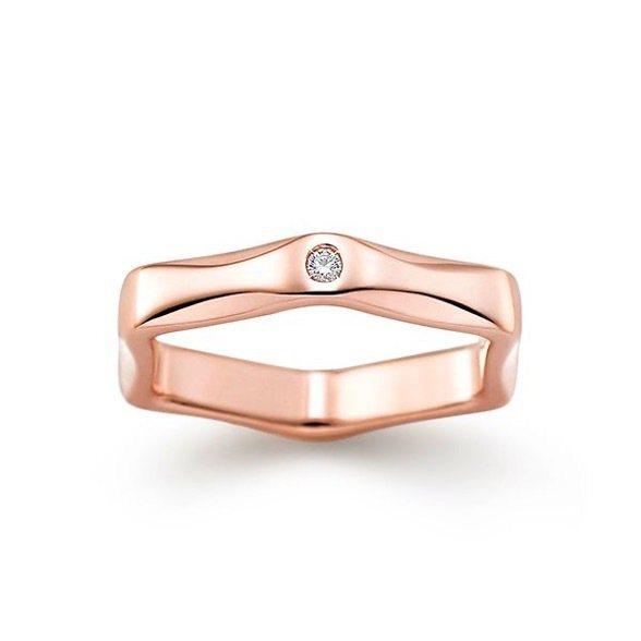 Labello系列Stone 花瓣鑽石櫻花金戒指。(圖片取自Tasaki官網)