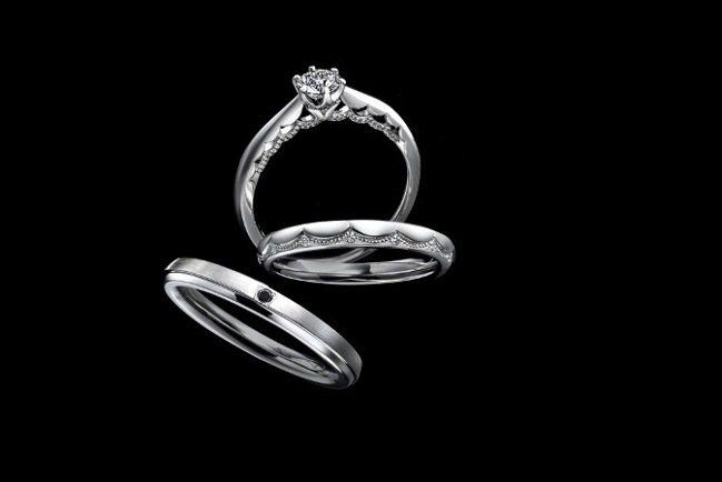 Exelco Diamond的 Le Voile鉑金對戒。 圖/Tatler T...